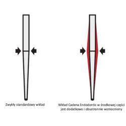 ENDODONTIC | Wkłady koronowo-korzeniowe 10szt + Drill kalibrujący
